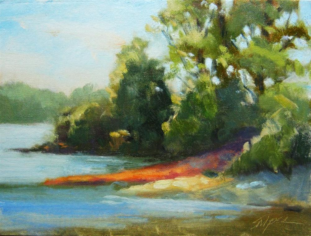 Red Clay Path, Beatty Park original fine art by Connie Snipes