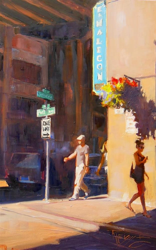 """The El Malecon  Seattle, cityscape, oil painting by Robin Weiss"" original fine art by Robin Weiss"