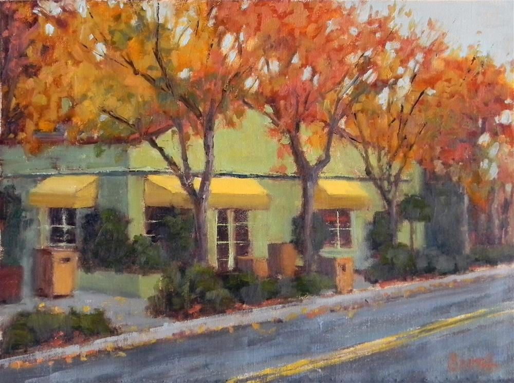"""Bouchon in Fall"" original fine art by Barbie Smith"