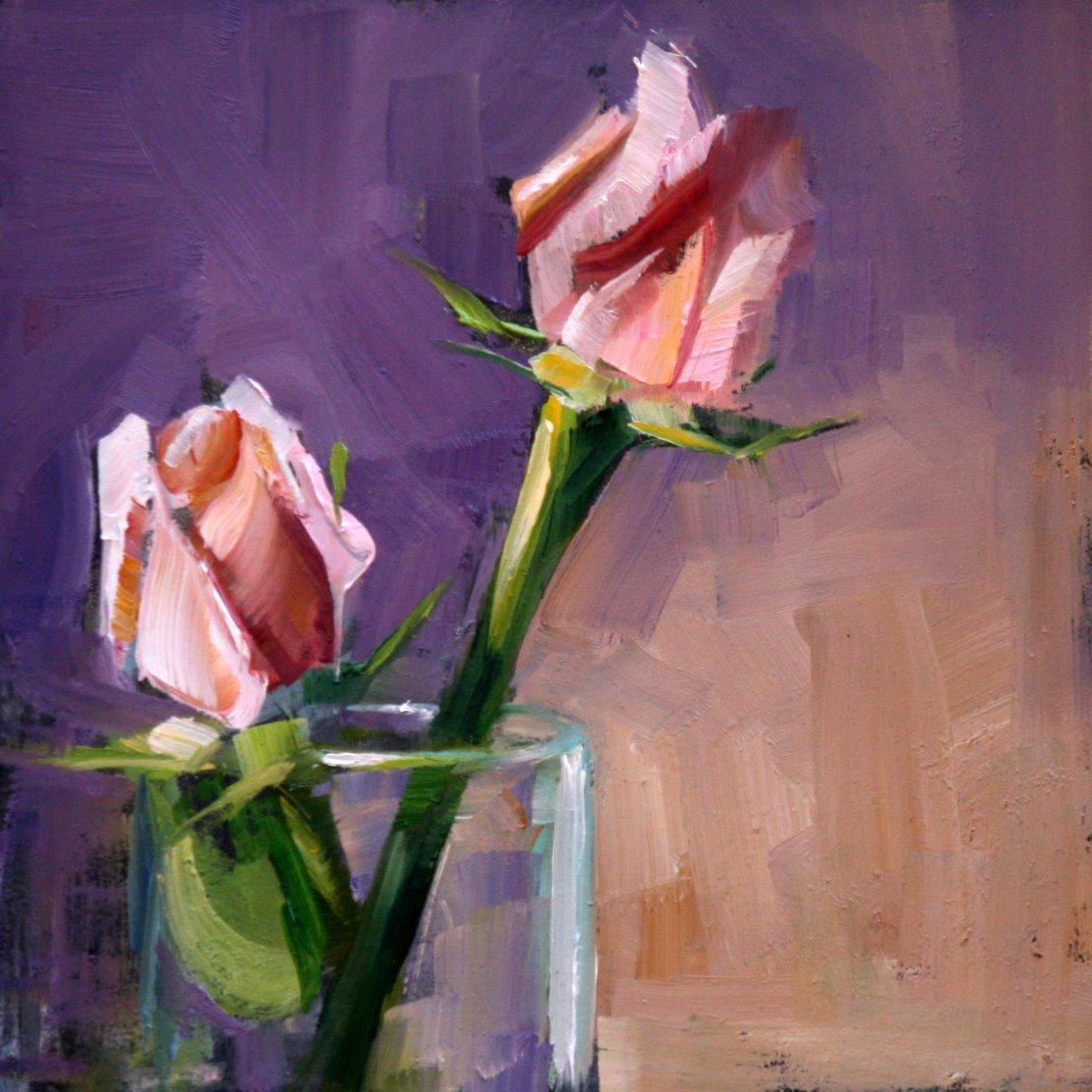 """Pink II"" original fine art by Carol Carmichael"