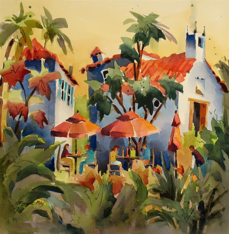 """Plaza de la Naranjos view 2"" original fine art by Jinnie May"