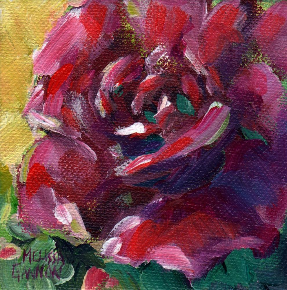 """Red Rose"" original fine art by Melissa Gannon"