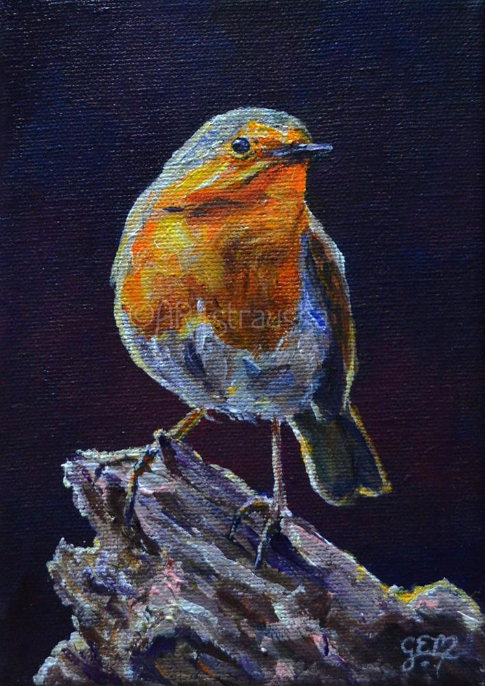 """Call Me Robin"" original fine art by Gloria Ester"