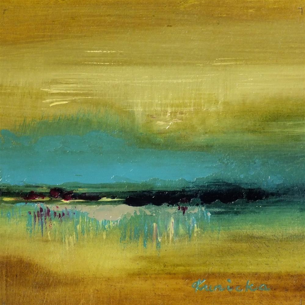 """Landscape 137"" original fine art by Ewa Kunicka"