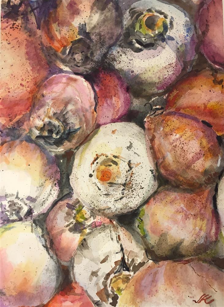 """White Beets"" original fine art by Jean Krueger"