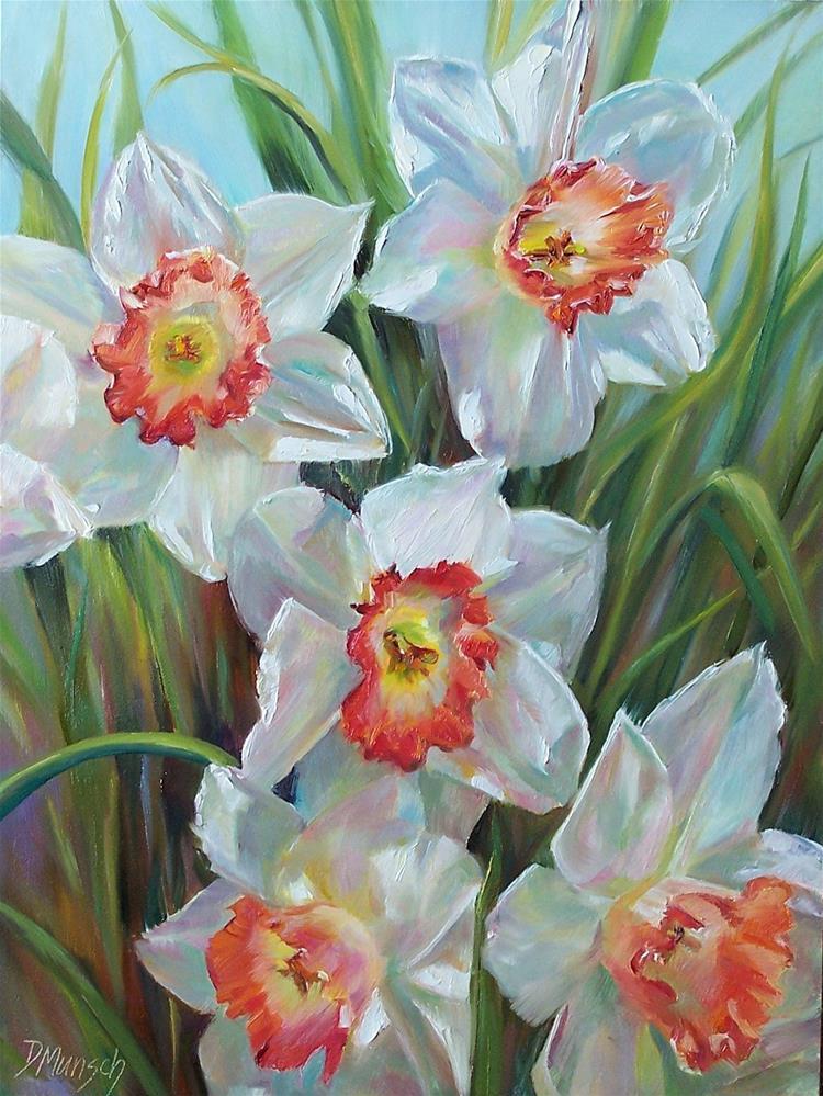 """""""Daffodil Choir"""" original fine art by Donna Munsch"""