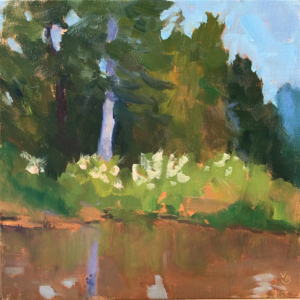 """Delta Ponds Reflections"" original fine art by Victoria  Biedron"