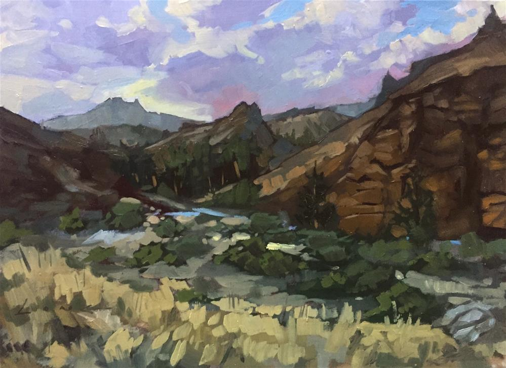 """Shoshone National Forest"" original fine art by Chris Long"