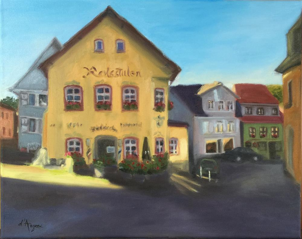 """Königstein village"" original fine art by Karen D'angeac Mihm"