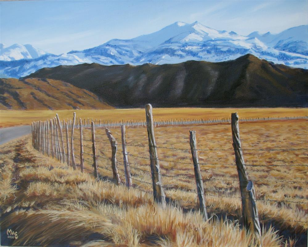 """Bridgeport Meadows in the Winter"" original fine art by John F McGowan"