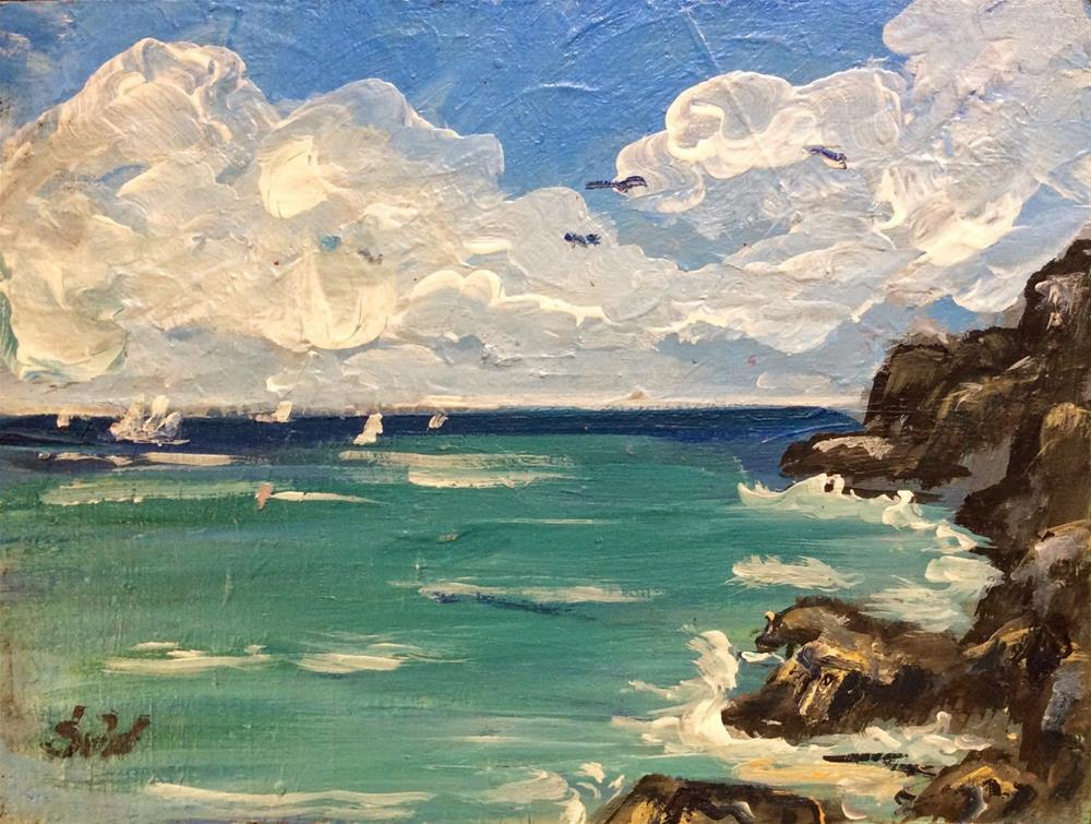 """Bermuda south shore painting"" original fine art by Sonia von Walter"