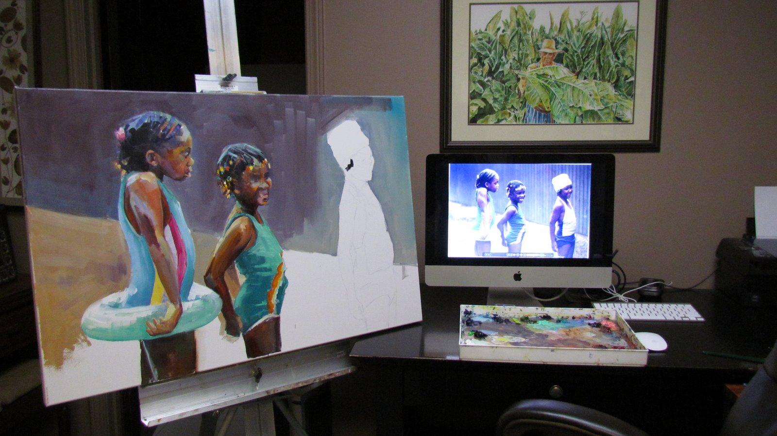 """in progress"" original fine art by Carol Carmichael"