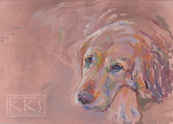 """Golden"" original fine art by Kimberly Santini"