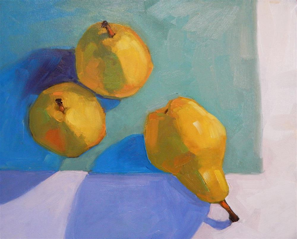 """Looking down on Pears"" original fine art by Lisa Kyle"
