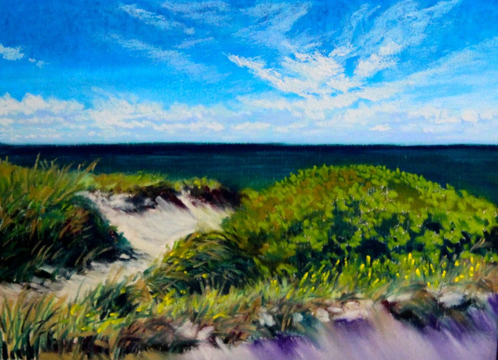 """Bound Brook Island"" original fine art by Jill Bates"