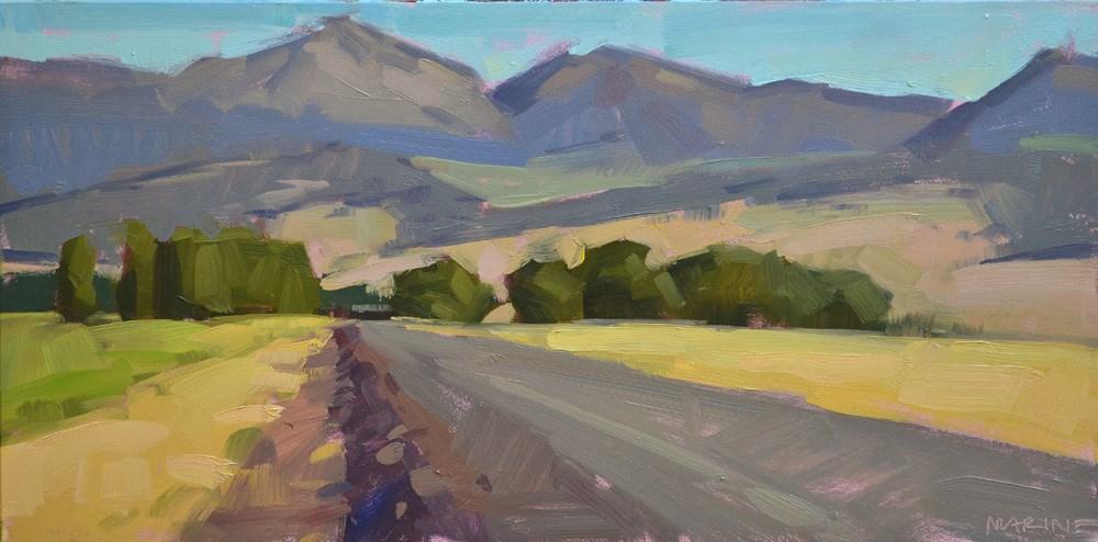 """Strawberry Valley"" original fine art by Carol Marine"