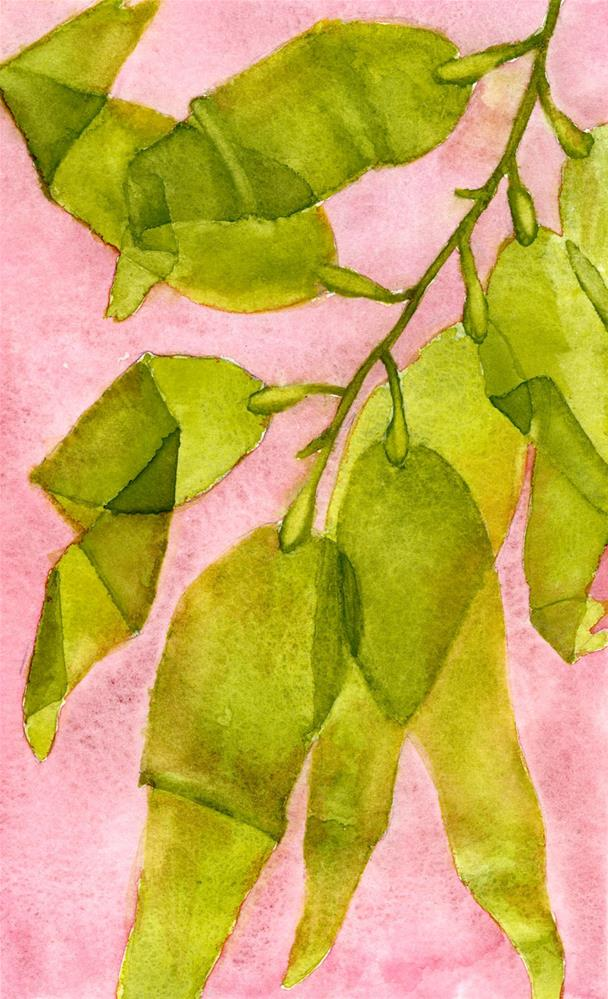 """Folding Leaves"" original fine art by Eileen Hennemann"