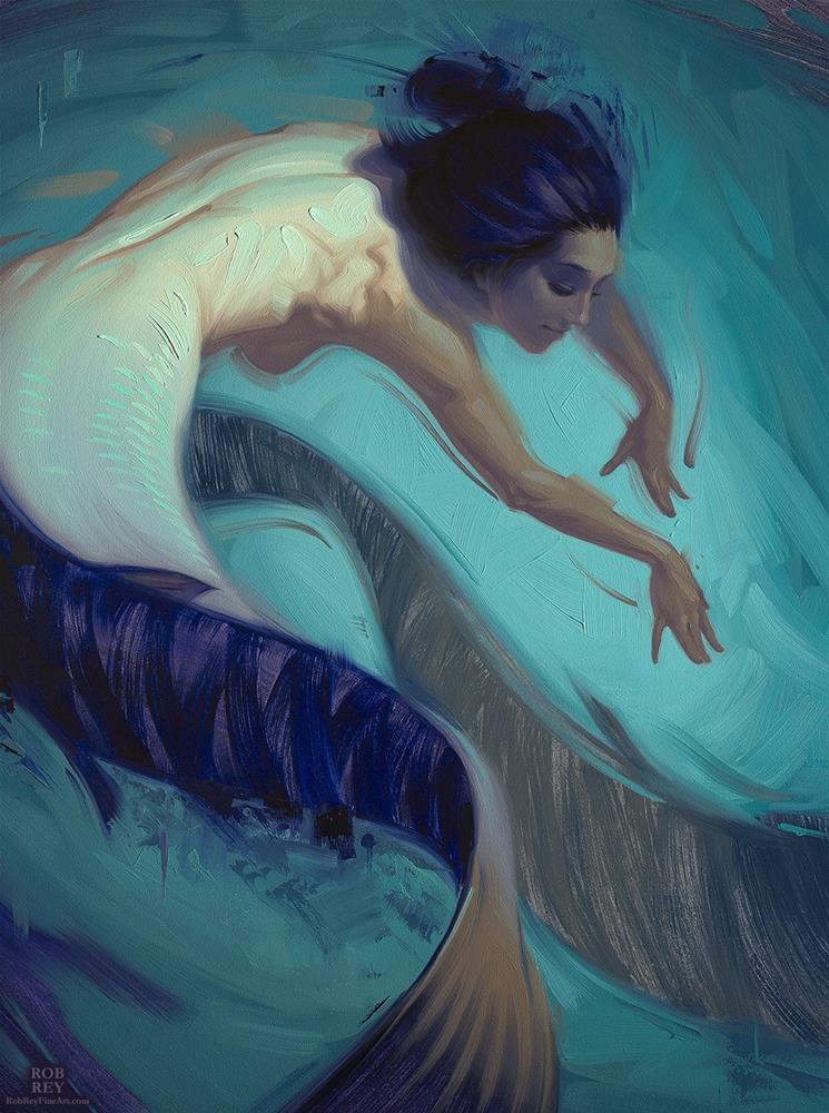 """Double Back"" original fine art by Rob  Rey"