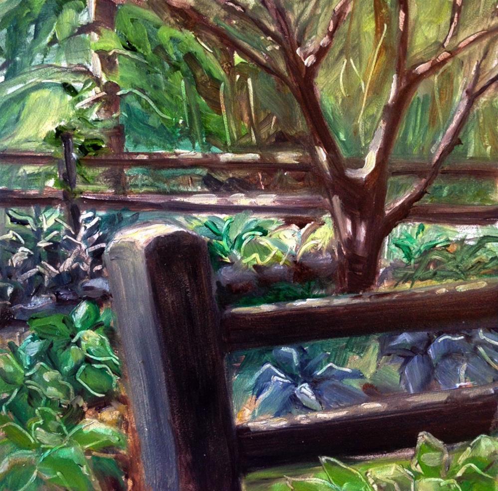 """My Hosta Garden"" original fine art by Beth Moreau"