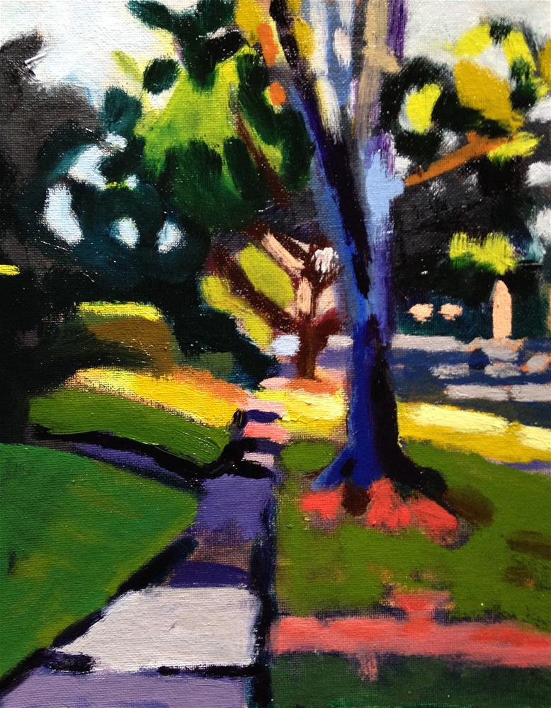 """Neighbor Isn't Mowing...Vertical Composition"" original fine art by Pamela Hoffmeister"
