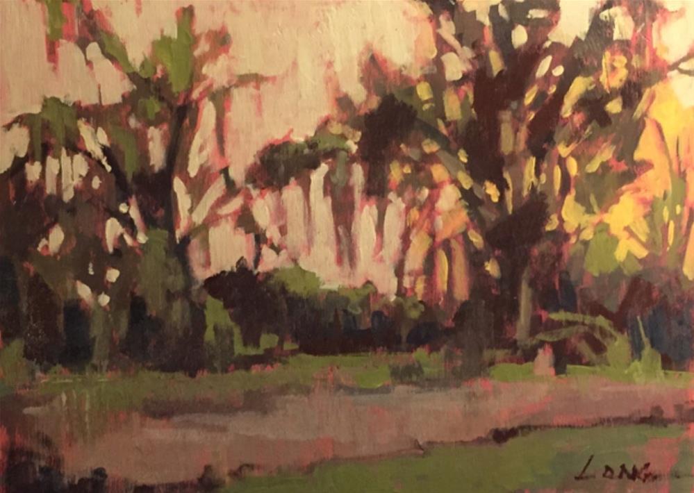 """Swamp"" original fine art by Chris Long"