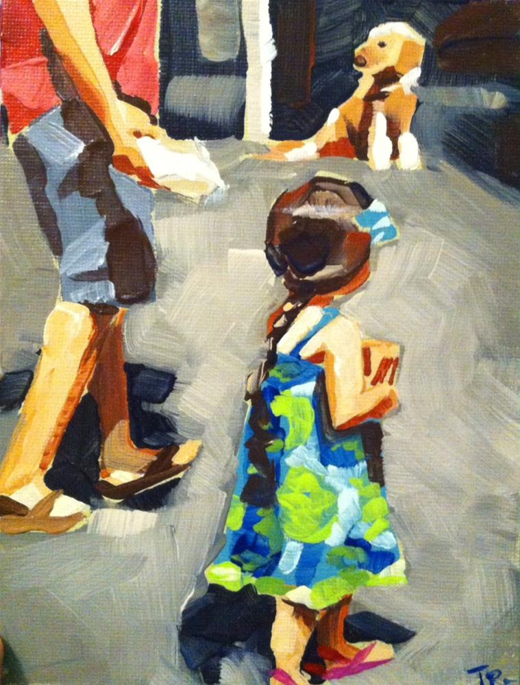 """Market Day with Dad"" original fine art by Teddi Parker"
