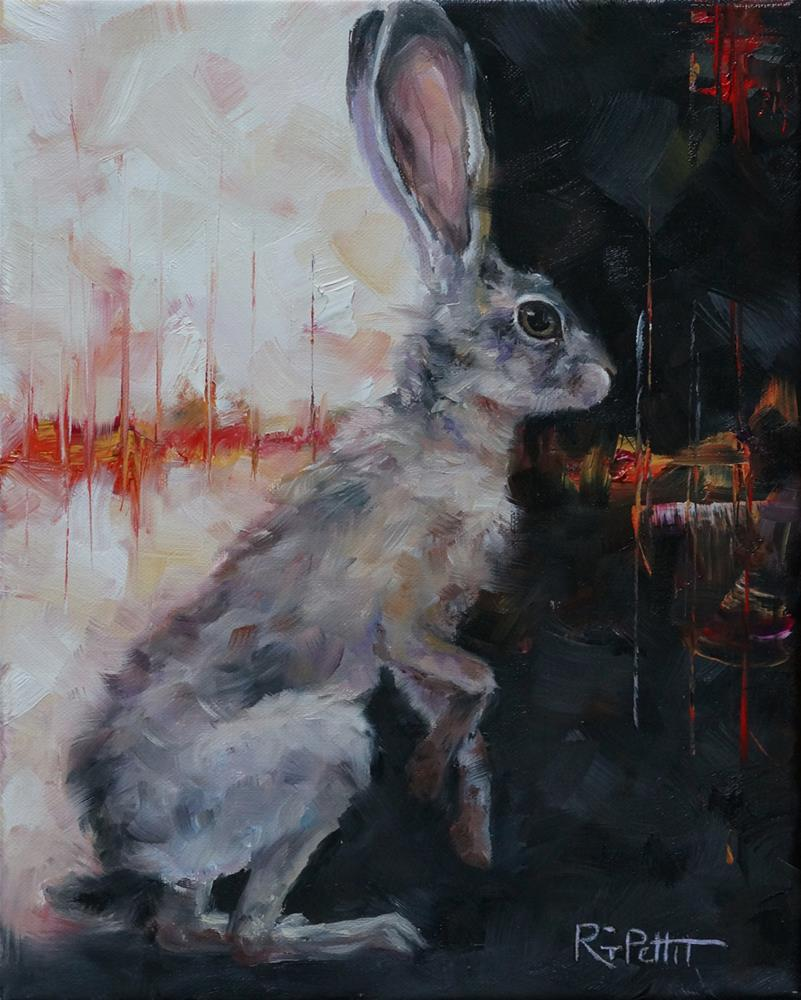 """50 Shades of Gray Hare"" original fine art by Rhea  Groepper Pettit"