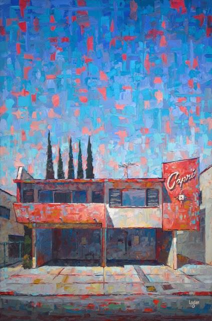 """The Capri Apts"" original fine art by Raymond Logan"