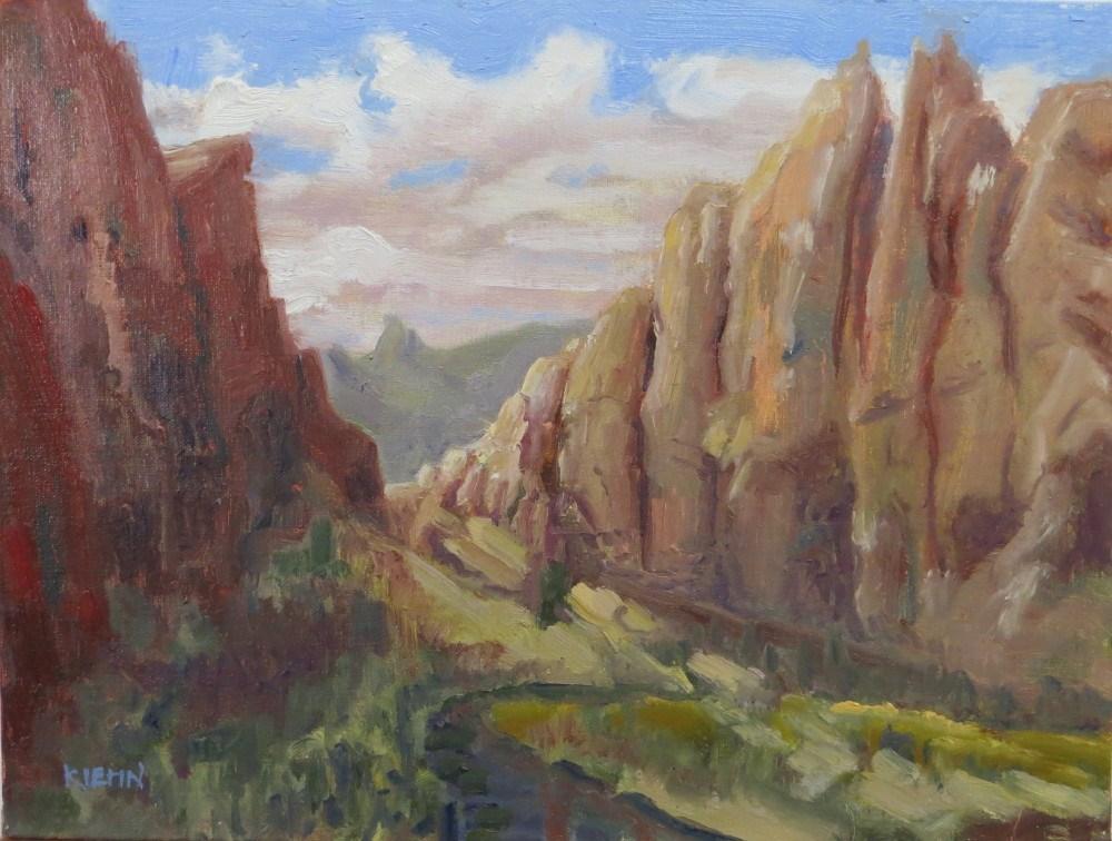 """Smith Rock Sunset"" original fine art by Richard Kiehn"