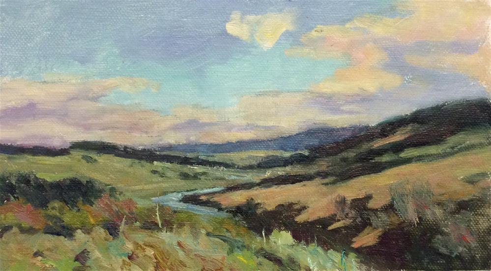 """Landscape in Northumberland"" original fine art by John Shave"