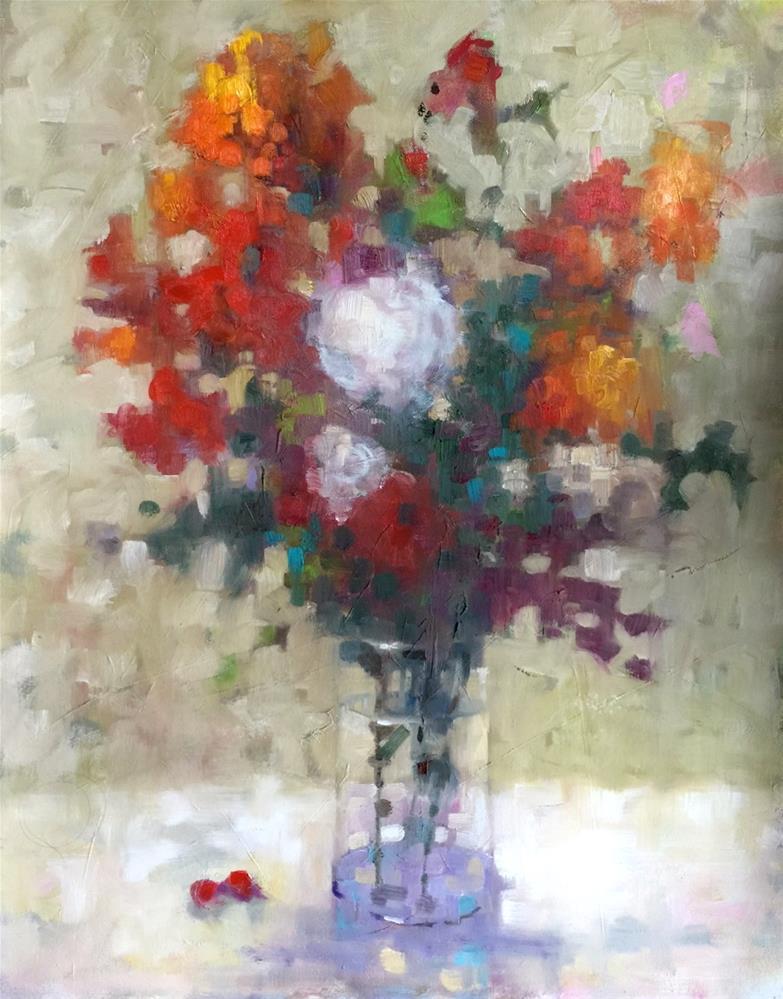 """Floral Impressions, 16x20"" original fine art by Ann Feldman"