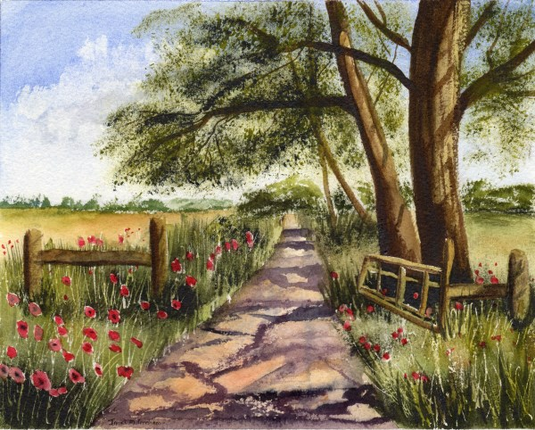 """Country Track"" original fine art by Janet Graham"