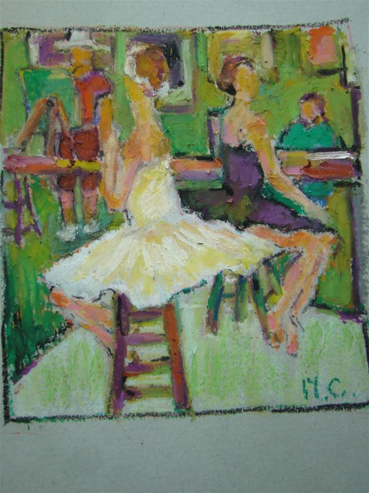 """Saturday class"" original fine art by meribeth coyne"