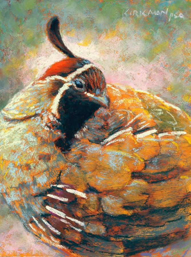 """Day 29 - Q is for Quail"" original fine art by Rita Kirkman"