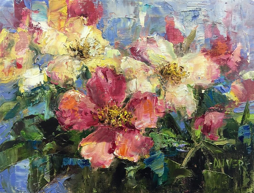 """English Wild Roses"" original fine art by Julie Ford Oliver"