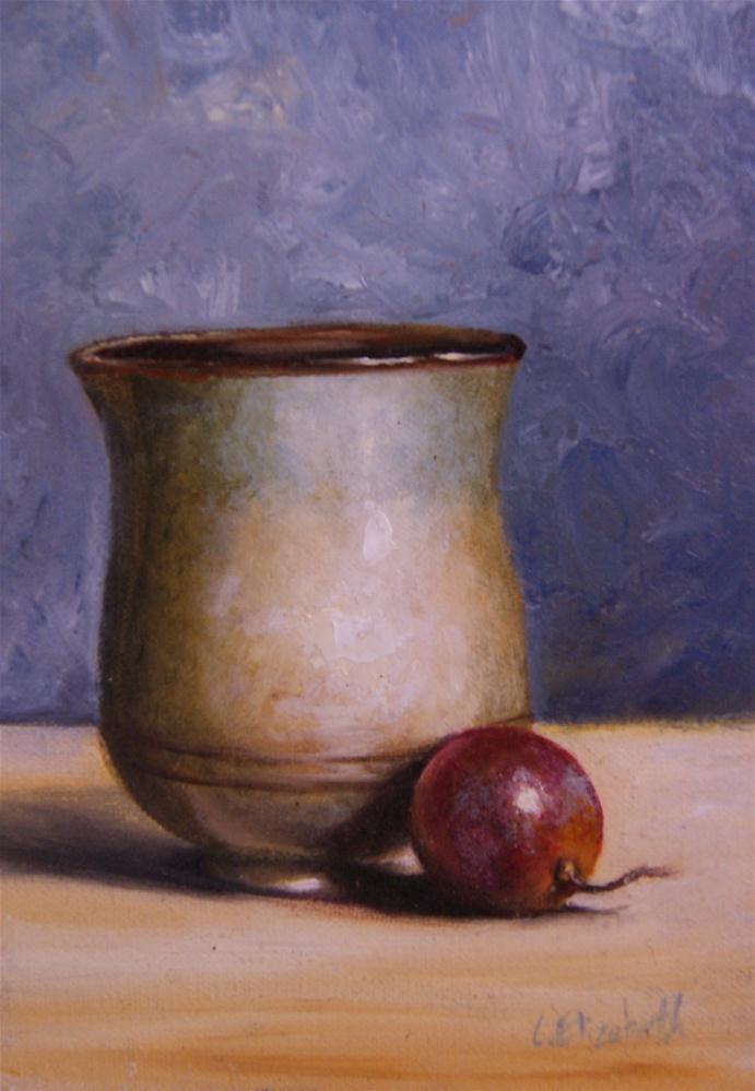 """Cup and Grape Still Life"" original fine art by Carolina Elizabeth"