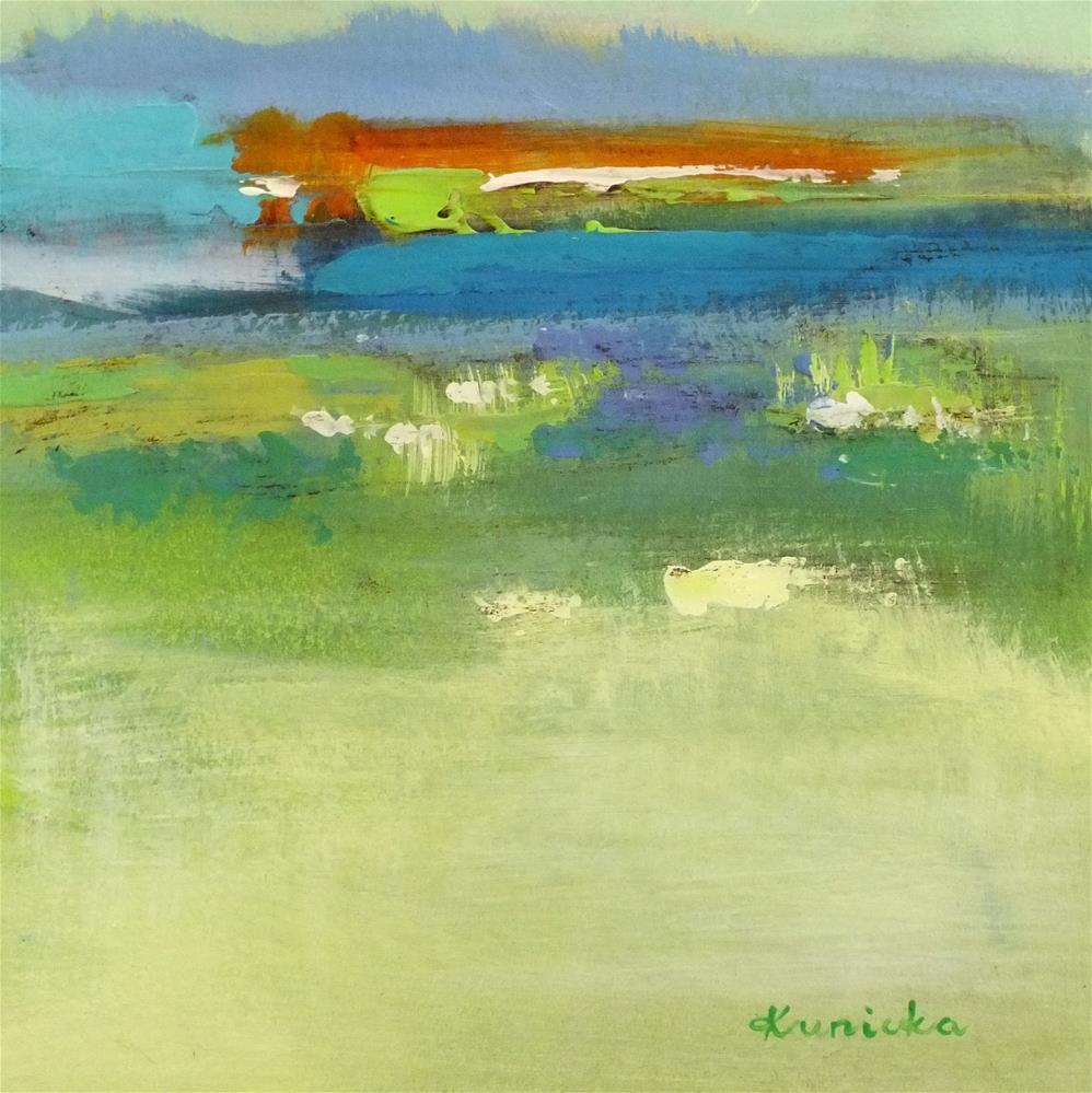 """Landscape 188"" original fine art by Ewa Kunicka"