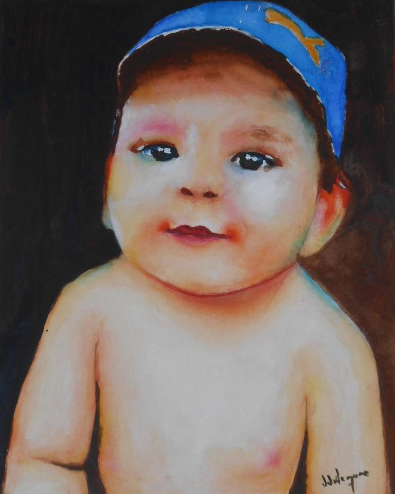 """Little Angel"" original fine art by Juan Velasquez"