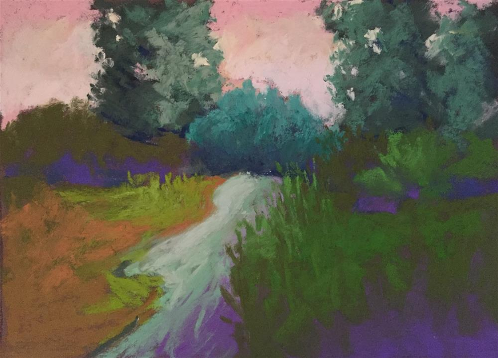 """Twilight Trail"" original fine art by Sandi Miller"