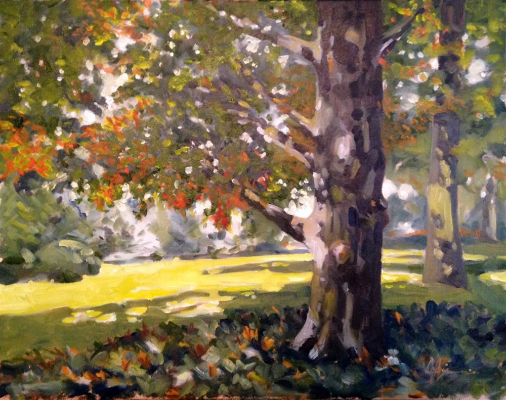"""October Park"" original fine art by Cornelis vanSpronsen"