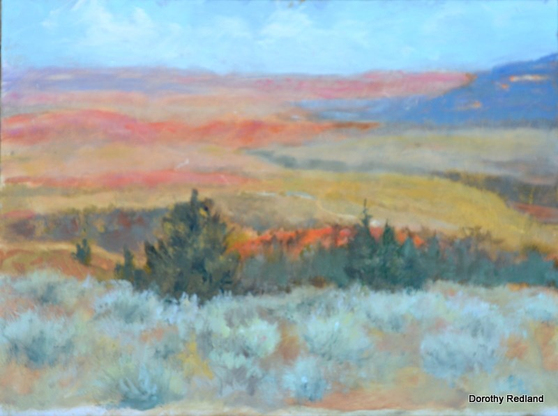"""On a clear day"" original fine art by Dorothy Redland"