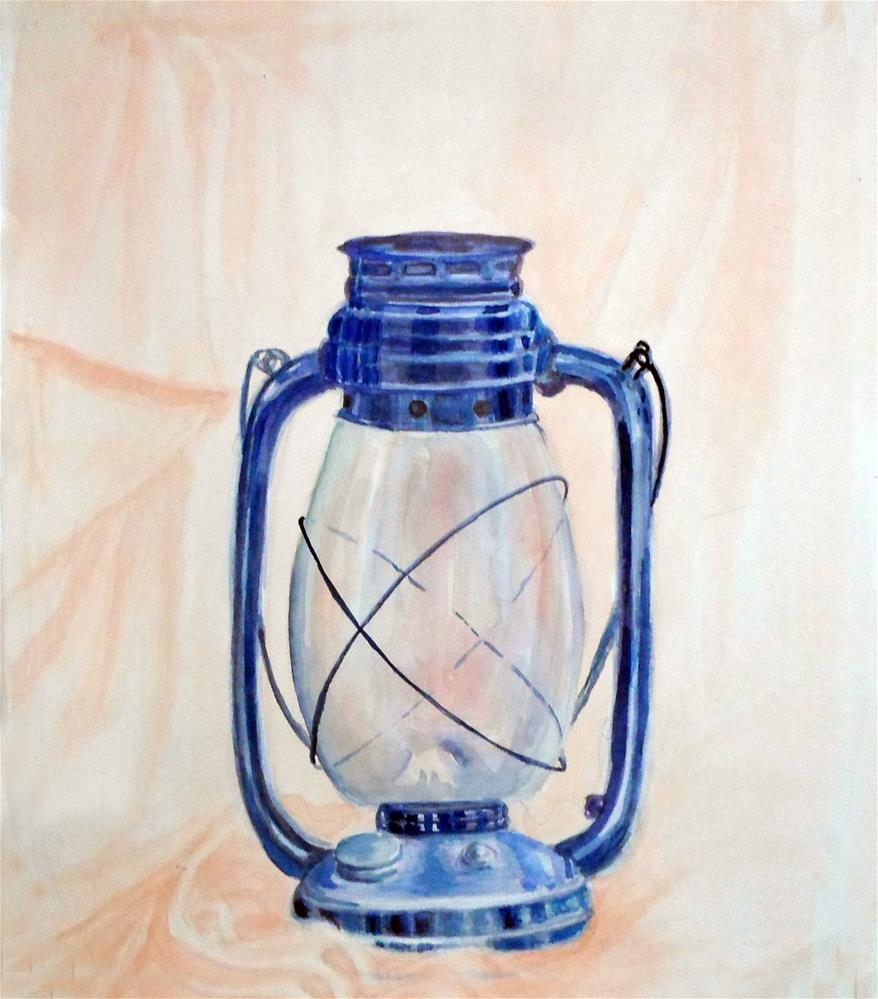 """The Antique lantern"" original fine art by Asha Shenoy S"