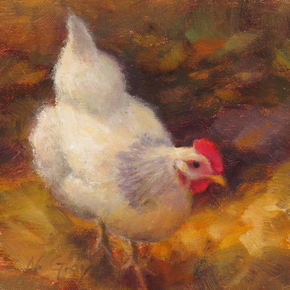"""Sophie in the Fall Foliage"" original fine art by Naomi Gray"