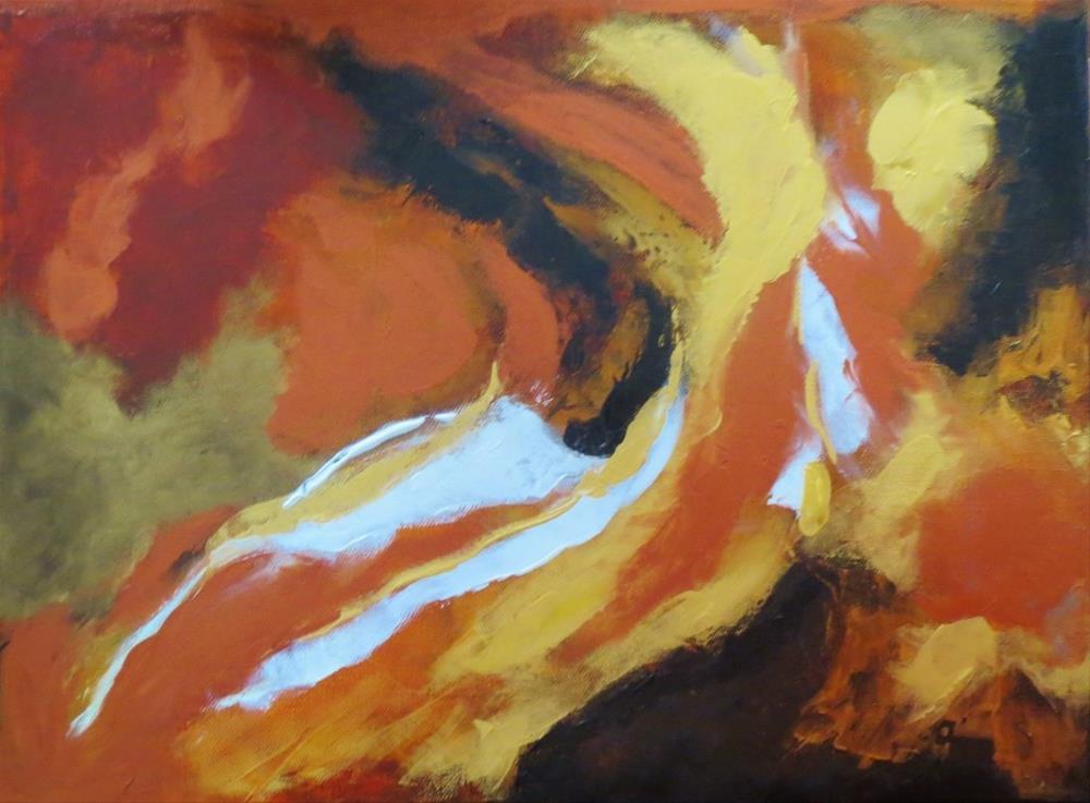 """""""Woven"""" original fine art by Astrid Buchhammer"""