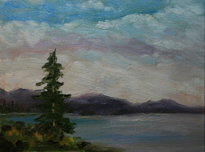 """Morning Clouds"" original fine art by Jean Nelson"