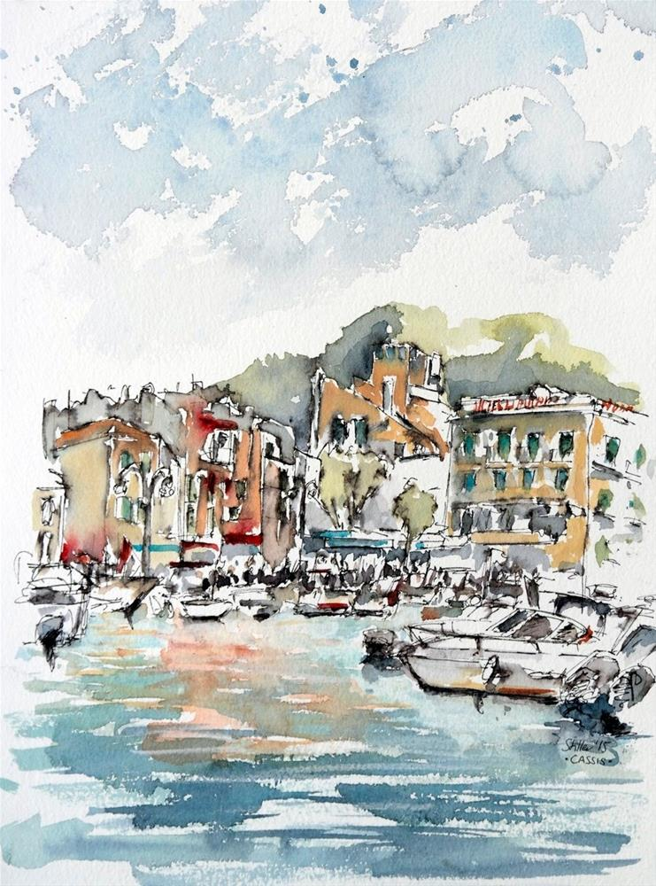 """1511 Cassis"" original fine art by Dietmar Stiller"