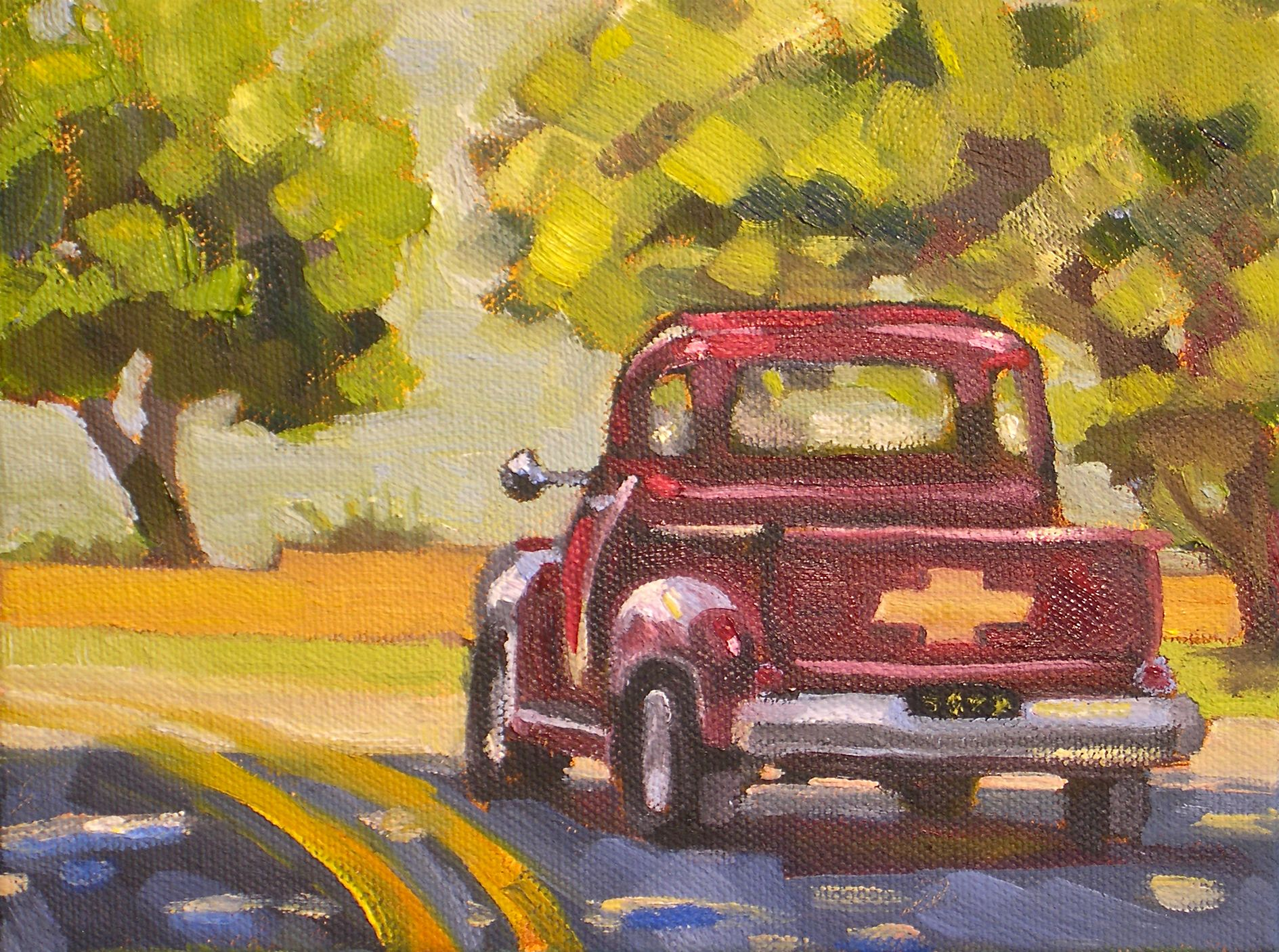 """Sunday Drive"" original fine art by Donna Walker"