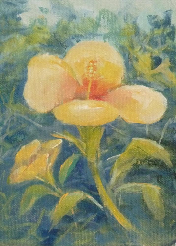"""""""Hibiscus"""" original fine art by Jo-Ann Sanborn"""
