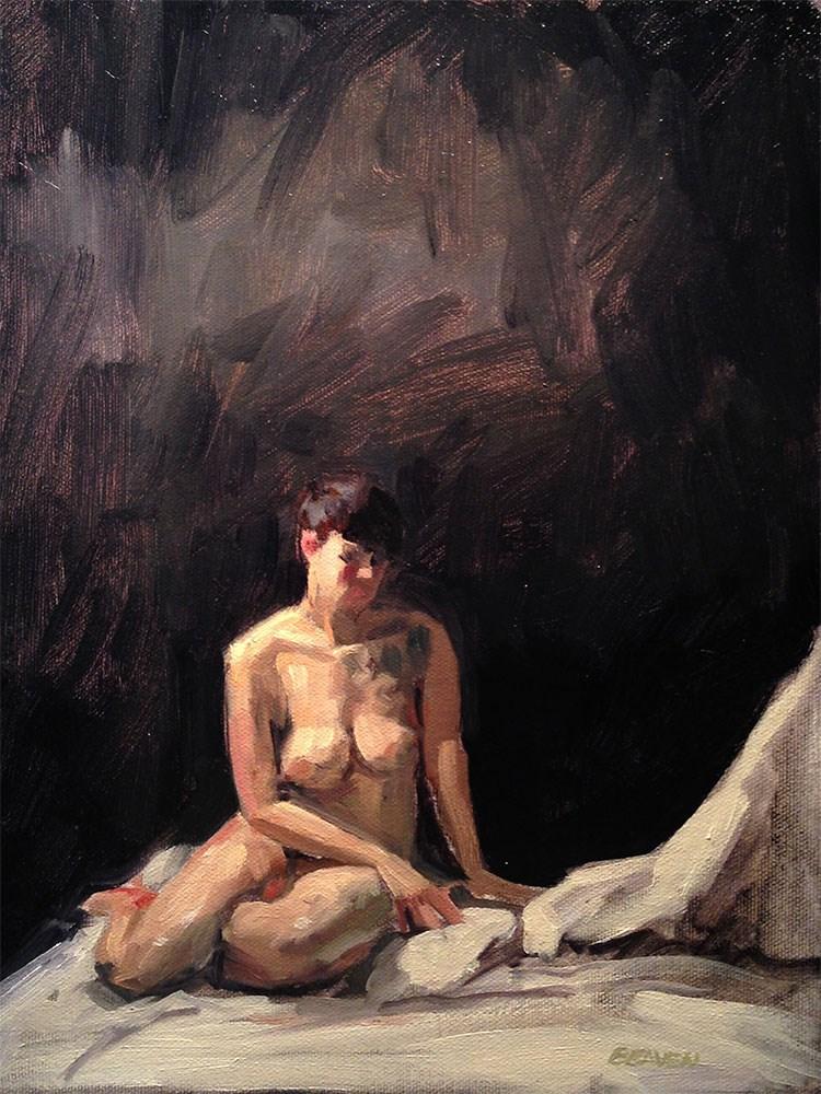 """Model in Contemplation"" original fine art by Chris Beaven"