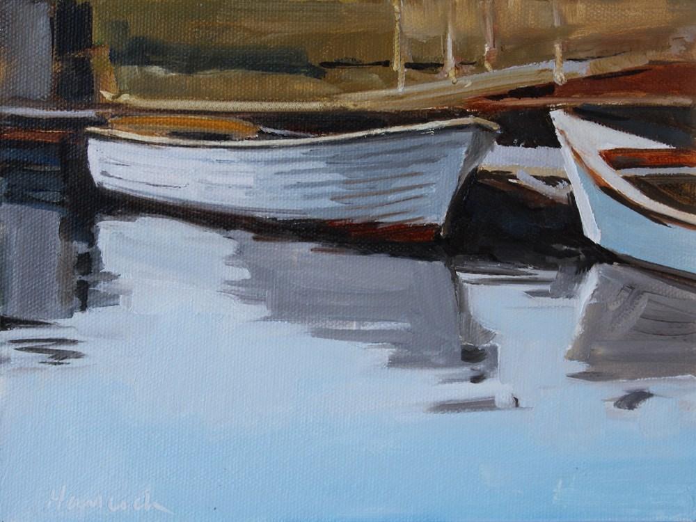 """Sailboat at Lake Union"" original fine art by Gretchen Hancock"